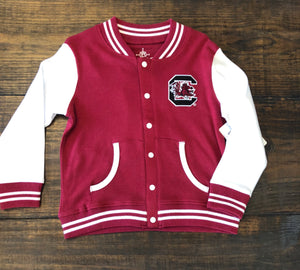 GARNET VARISTY JACKET GAMECOCK