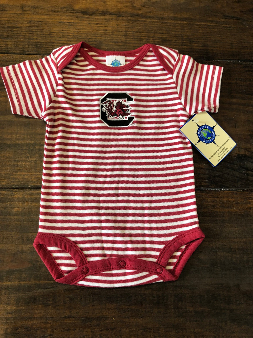 Garnet Stripe Bodysuit Gamecock