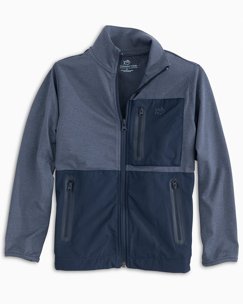 BOYS SEA FOAM PERFORMANCE ZIP UP JACKET