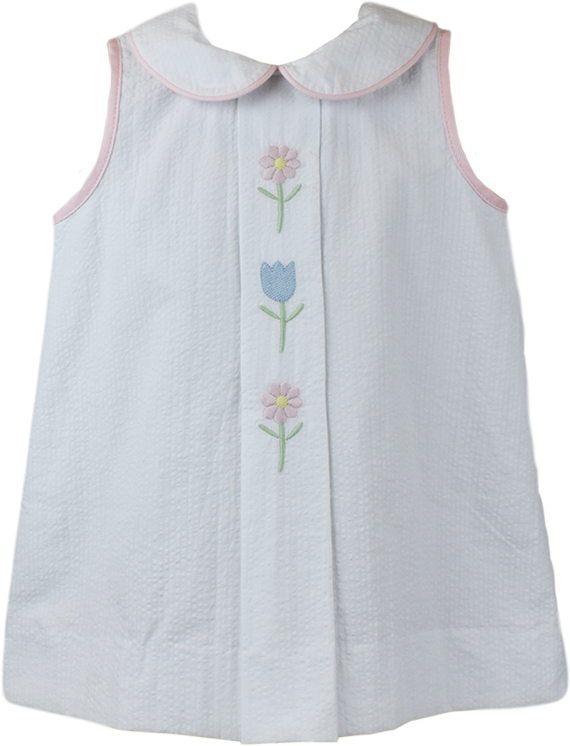 BLUEBONNET DRESS - WHITE SEERSUCKER