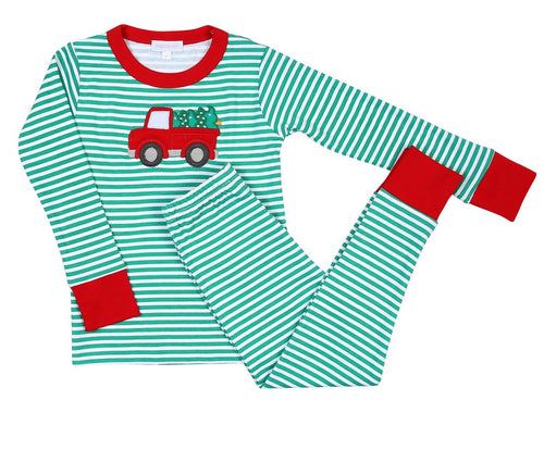 PERFECT TREE TRUCK APPLIQUE PJ SET