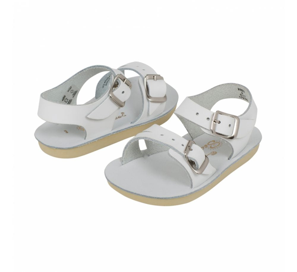 Sun-San Sea Wee White Sandals
