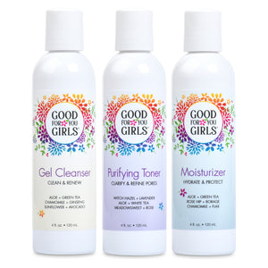 Cleanser, Toner, and Moisturizer Trio
