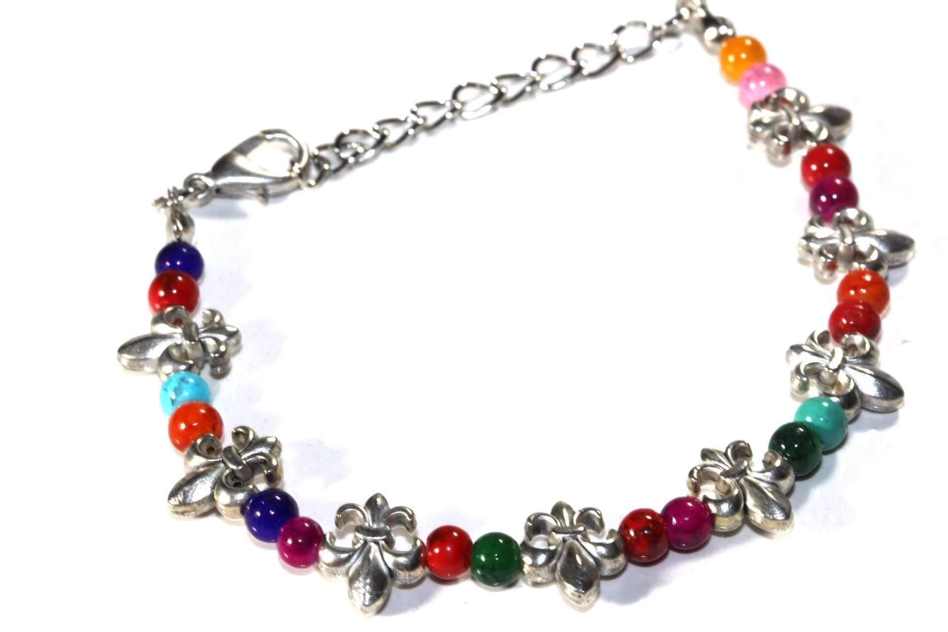 Fluer De Lis Colorful Bracelet