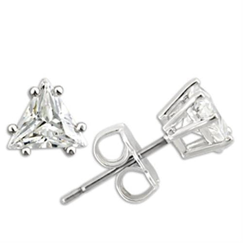 0W156 Rhodium 925 Sterling Silver Earrings with