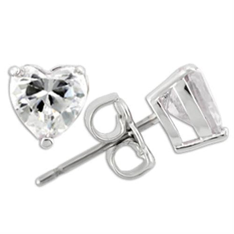 0W166 Rhodium 925 Sterling Silver Earrings with