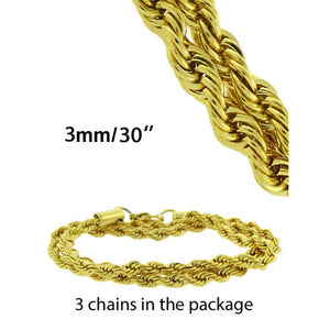 Rope Chain in Gold color