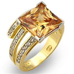 31221 Gold+Rhodium 925 Sterling Silver Ring with