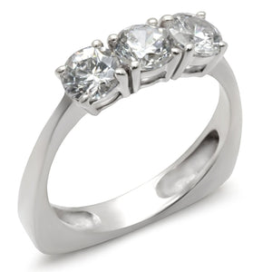 34418 High-Polished 925 Sterling Silver Ring with