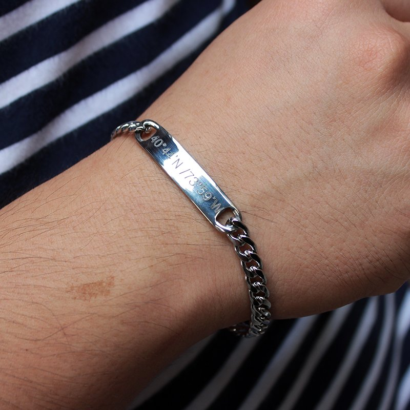 Personalized Steel Chain Bracelet