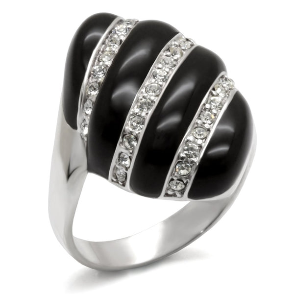40314 High-Polished 925 Sterling Silver Ring with