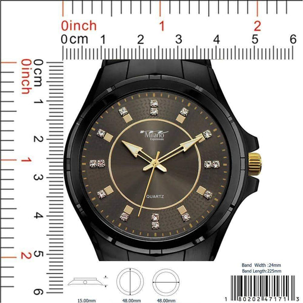 48MM Milano Expressions Metal Band Watch - 4717
