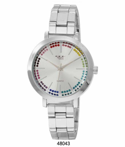 40MM Milano Expressions Metal Bracelet Watch
