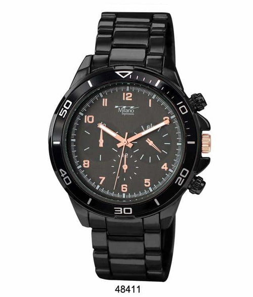 48MM Milano Expressions Metal Band Watch - 4841