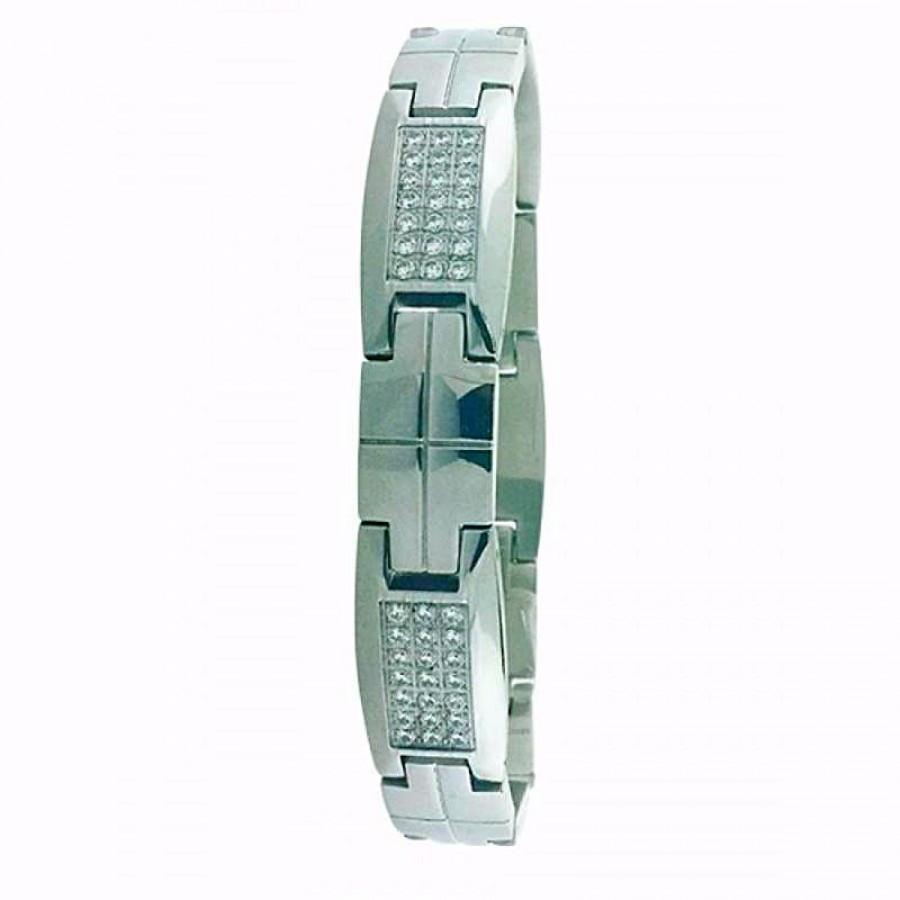 Stainless Steel bracelet with CZ 80031