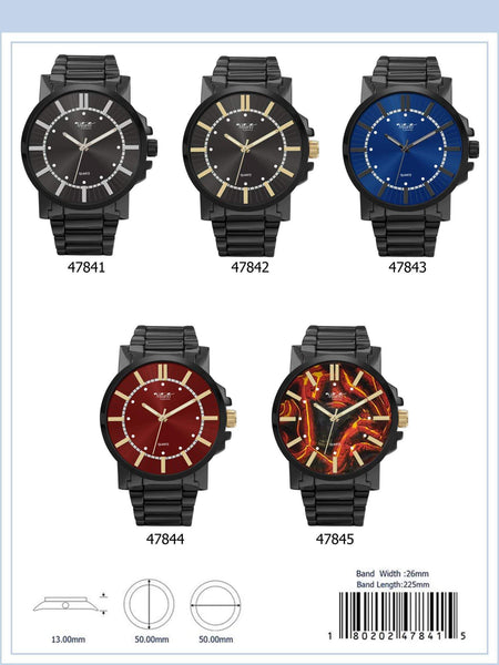 50MM Milano Expressions Metal Band Watch - 4784