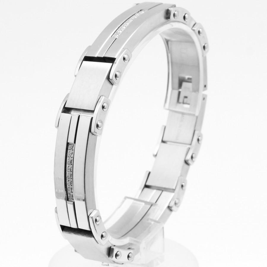 Stainless Steel bracelet with CZ B80131