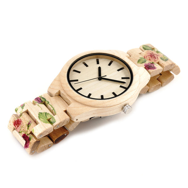 Bamboo Wood Watch With UV Printing
