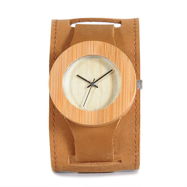 C04 Men Women Wood Watch Analog Quartz