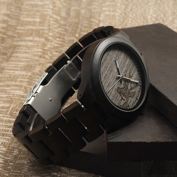I26 Mens Unique Ebony Wooden Watches