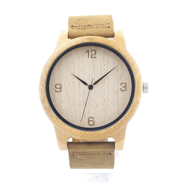 L09 Bamboo Wooden Men Wristwatch with
