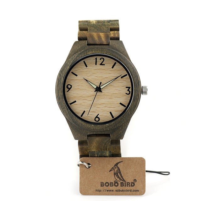 Men Green Sandal Wooden Watch Top Luxury