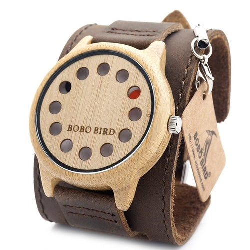 New Design 12 Wholes Leather Band Casual