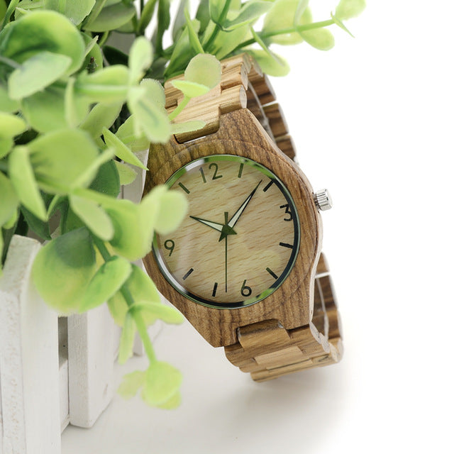 New Fashion Men's Wood Watches Casual