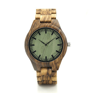 Zebra Series Wood Watches Simple Wooden