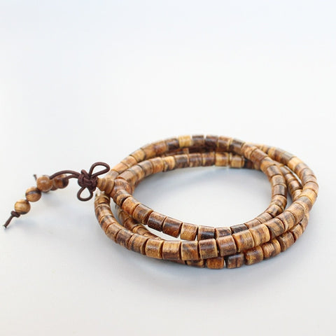 108 Natural Tiger Skin Prayer Beads