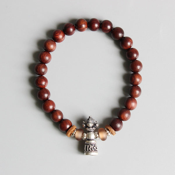Tibetan Buddhism Sanders Wood Mala Beads