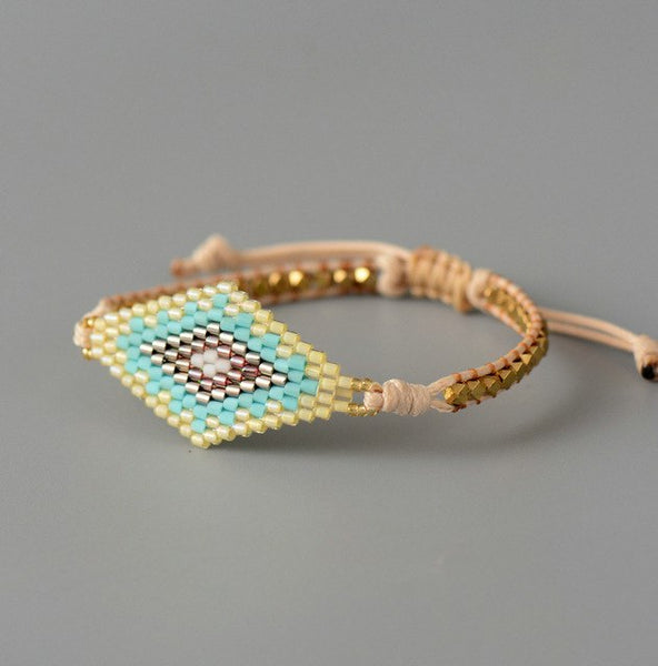 Exquisite Seed Beads Bohemian Bracelet Women Gold