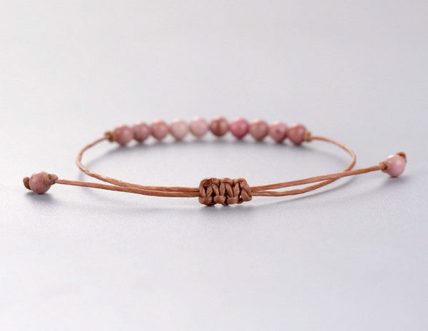 Handmade Boho Natural Stone Adjustable Bracelet