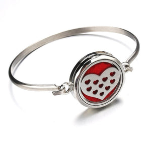Hollow Heart Stainless Steel Aromatherapy Bracelet