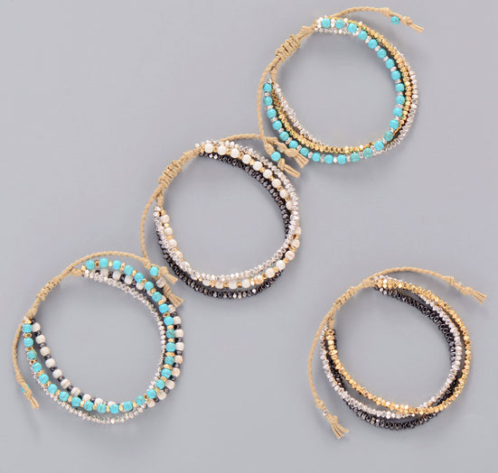 Innovative 3 Colors Metal Beads Friendship