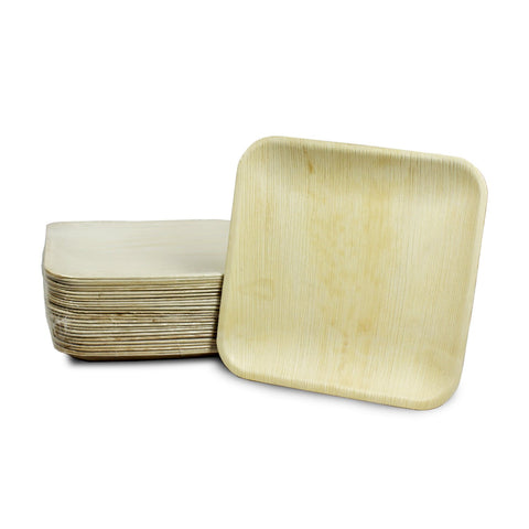 "Palm Leaf Square Plates 8"" Inch (Set of 100/50/25)"