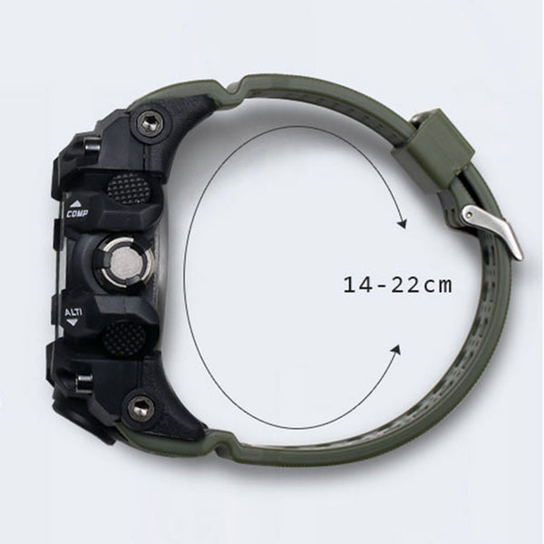 Men Military Watch 50m Waterproof Wristwatch LED