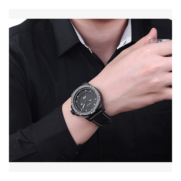 Men Watches Big Dial Casual Alloy Analog Digital