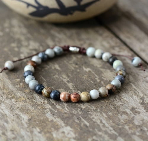 Mens Bracelets 2018 6MM Natural Stones Beaded