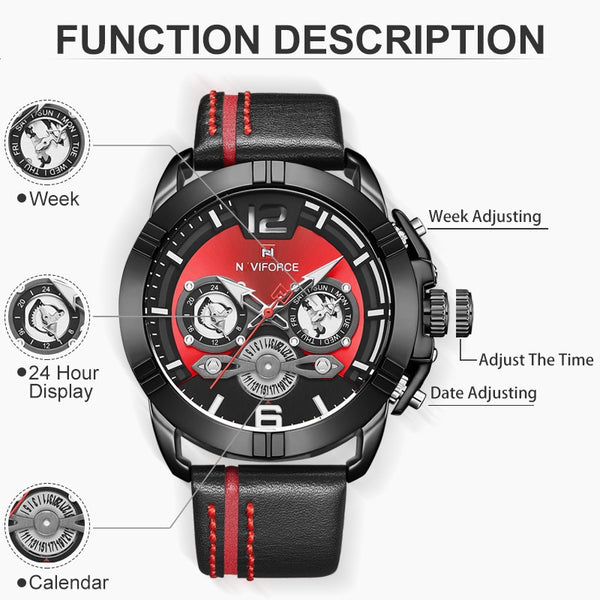 Men Watch Luxury Brand Mens Military