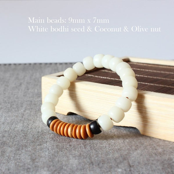 Natural White Bodhi Seed Coconut shell Olive Nut