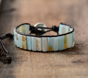New Bohemia Bracelet Amazonite Single Vintage