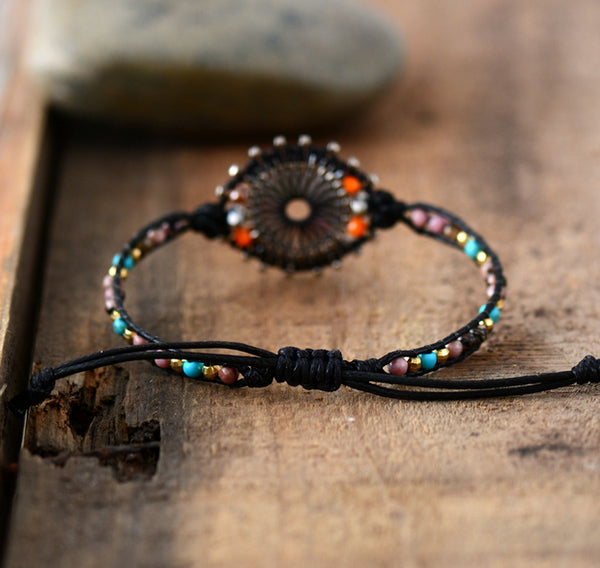 New Seed Beads Boho Bracelets Women Natural Stones