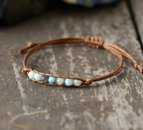 New Simple Bracelet Trendy Natural 4mm Stones