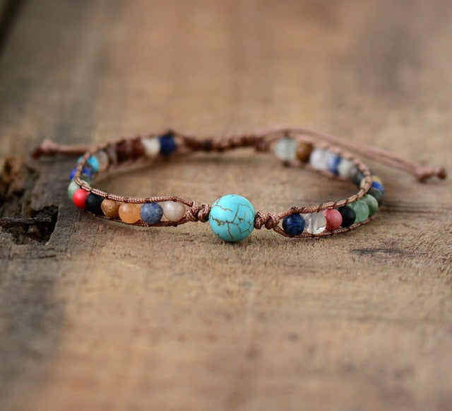 New Wrap Bracelets Natural Stones Beaded Woven