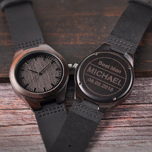 Personalized Wood Watches Engraved Watches