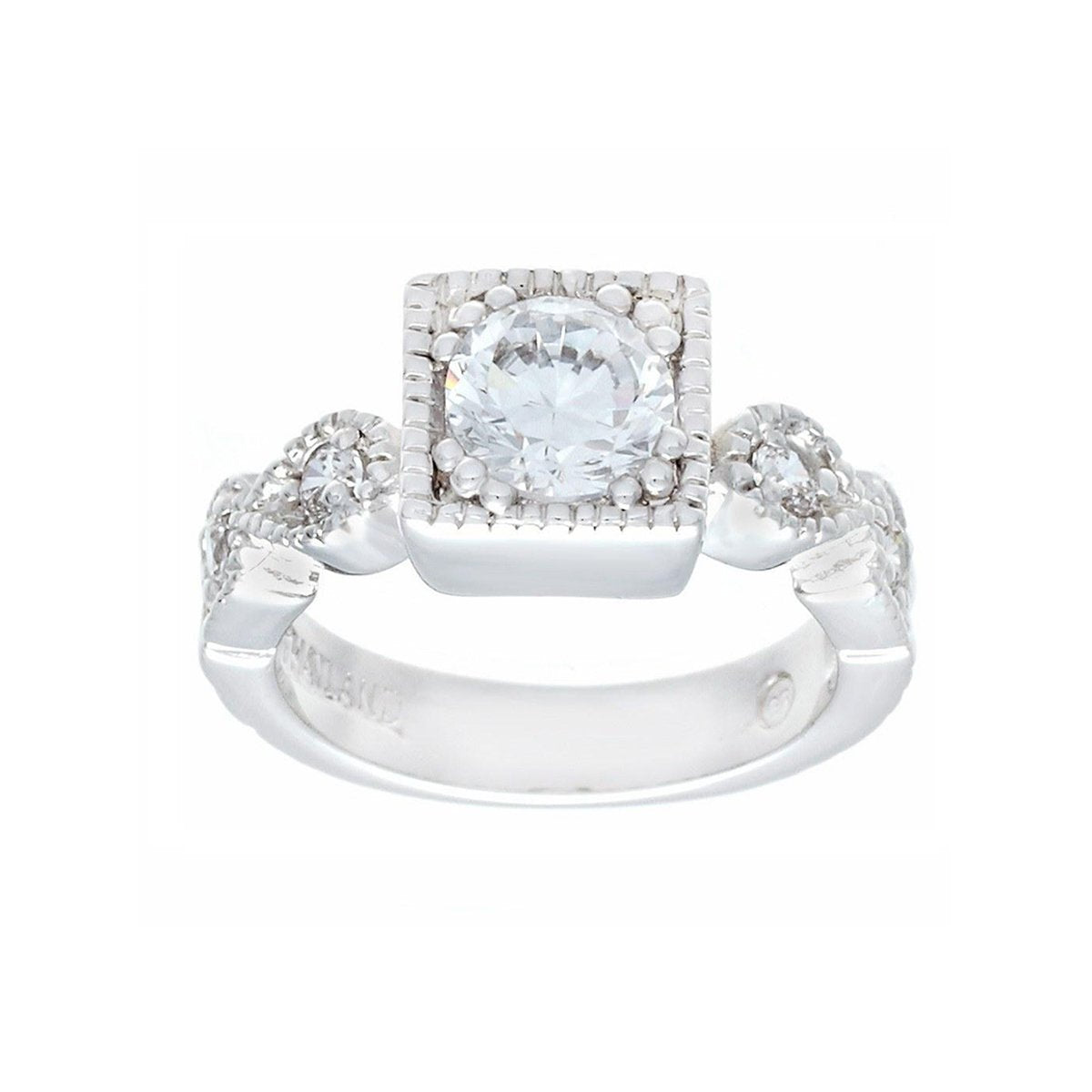 Designer Look Engagement Style Clear Stones Ring