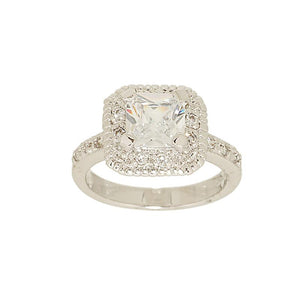 Classic Engagement Princess Cut Cubic Zirconia