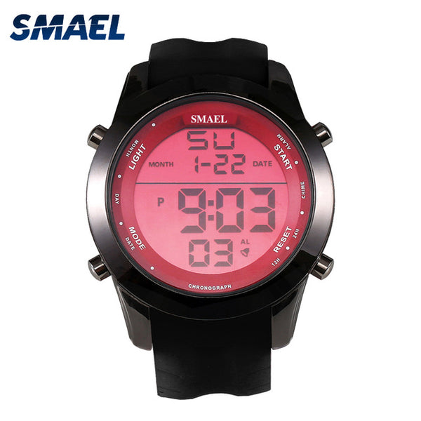 Red Sport Watches LED Digital Watch Male