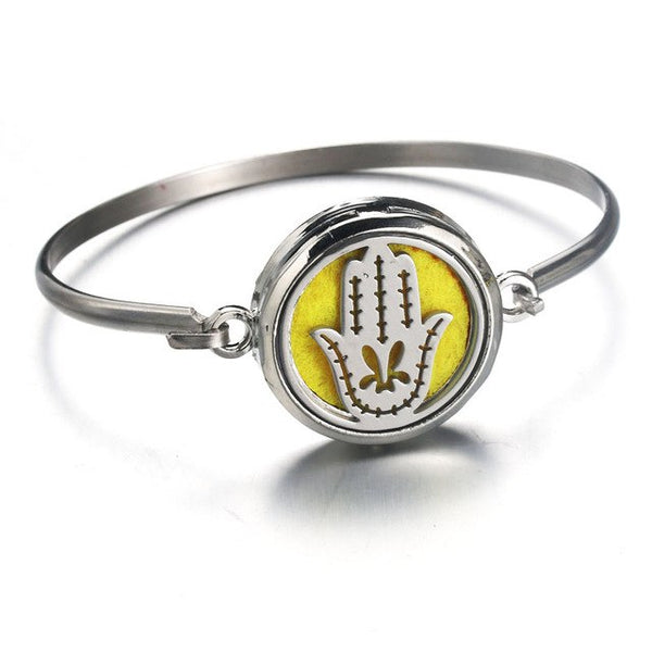Silver cross stainless steel Aromatherapy Bracelet